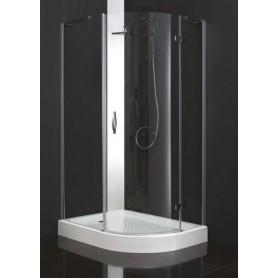 Душевой уголок Cezares Bergamo-RH-1 120х90, стекло прозрачное