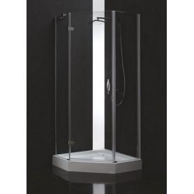 Душевой уголок Cezares Bergamo-P-2 90х90, стекло прозрачное