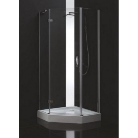 Душевой уголок Cezares Bergamo-P-2 90х90, стекло матовое