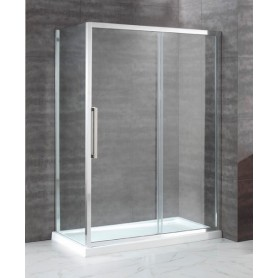 Душевой уголок Cezares Lux Soft 140х80, стекло прозрачное