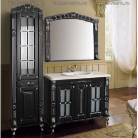 Мебель для ванной Атолл Александрия 100 (черный / патина серебро) 107х59 см