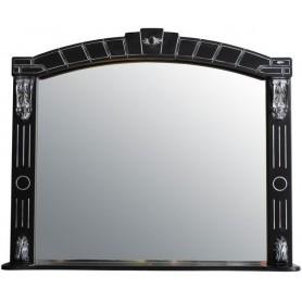 Зеркало Атолл Александрия 80 (черный / патина серебро)