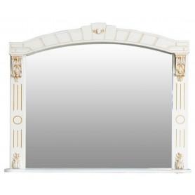 Зеркало Атолл Александрия 80 (слоновая кость / патина золото)