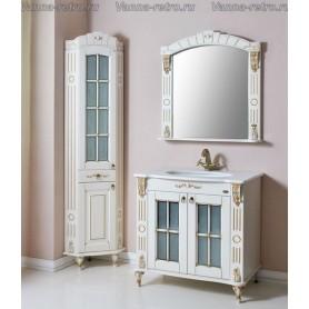 Мебель для ванной Атолл Александрия 80 К (слоновая кость / патина золото) 85х59 см
