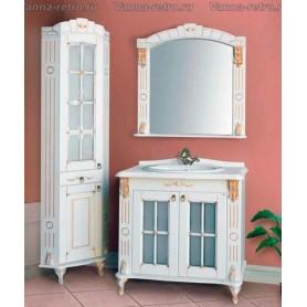 Мебель для ванной Атолл Александрия 80 (слоновая кость / патина золото) 85х59 см