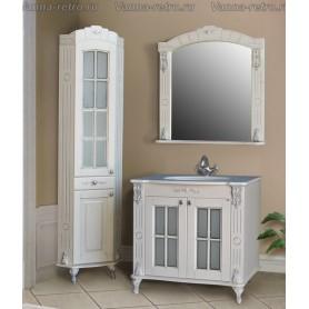 Мебель для ванной Атолл Александрия 80 К (слоновая кость / патина серебро) 85х59 см
