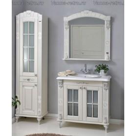 Мебель для ванной Атолл Александрия 80К (слоновая кость / патина серебро) 85х59 см