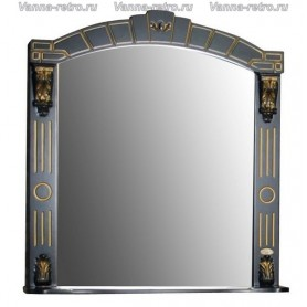 Зеркало Атолл Александрия 80 (черный / патина золото)