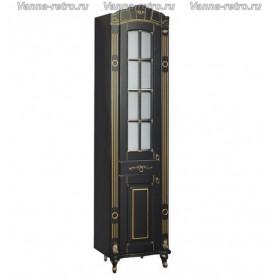 Шкаф - колонна Атолл Александрия (черный / патина золото) ➦ Vanna-retro.ru