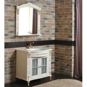 Мебель для ванной Атолл Александрия 80 К NEW (слоновая кость / патина золото) 85х59