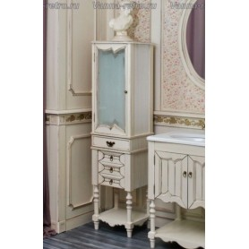 Шкаф - колонна Атолл Флоренция (слоновая кость с патиной)