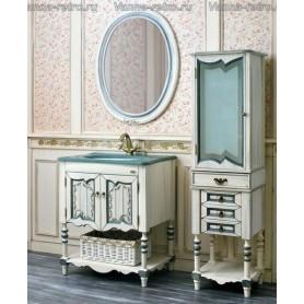 Мебель для ванной Атолл Флоренция 75 (слоновая кость / синяя патина)