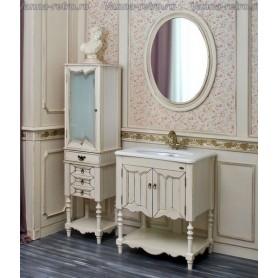 Мебель для ванной Атолл Флоренция 75 (слоновая кость с патиной)