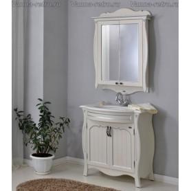Мебель для ванной Атолл Ривьера (слоновая кость / патина хром)