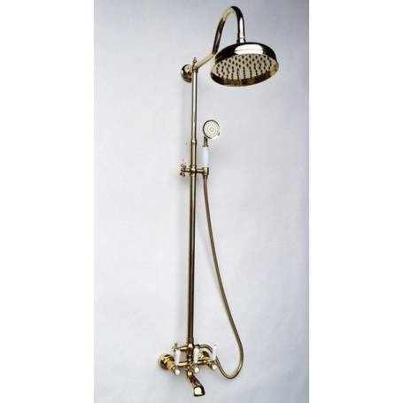 Душевая стойка Magliezza Bianco 11023-do цвет золото, лейка 30см купить в Москве