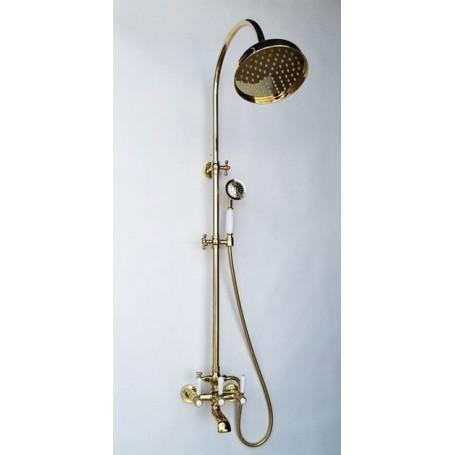 Душевая стойка Magliezza Bianco 12023-do цвет золото, лейка 30см купить в Москве