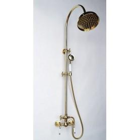 Душевая стойка Magliezza Bianco 12033-do цвет золото, лейка