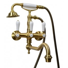 Смеситель для ванны Magliezza Bianco 50605-3-br бронза -