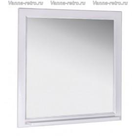 Зеркало АСБ Бергамо 85 (белый - патина серебро) ➦ Vanna-retro.ru