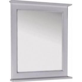 Зеркало АСБ Прато 70 (белый - патина серебро)