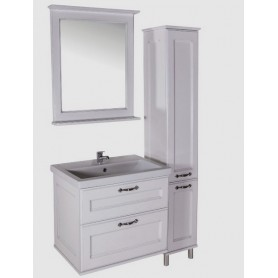 Мебель для ванной Прато 70 (белый - патина золото)