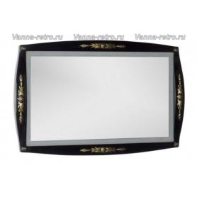 Зеркало Акванет Виктория 120 (черный с золотом)