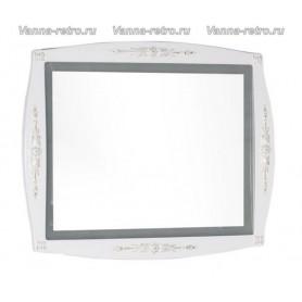 Зеркало Акванет Виктория 90 (белый с золотом) ➦ Vanna-retro.ru