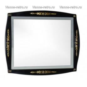 Зеркало Акванет Виктория 90 (черный с золотом) ➦ Vanna-retro.ru