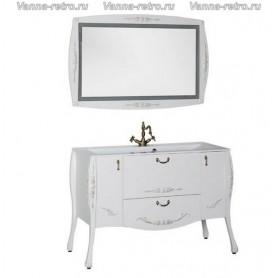 Мебель для ванной Акванет Виктория 120 (белый с золотом) ➦ Vanna-retro.ru