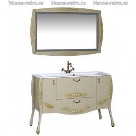 Мебель для ванной Акванет Виктория 120 (олива) ➦ Vanna-retro.ru