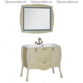 Мебель для ванной Акванет Виктория 90 (олива) ➦ Vanna-retro.ru