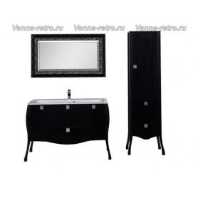 Мебель для ванной Акванет Мадонна 120 (черный) ➦ Vanna-retro.ru
