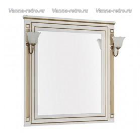 Зеркало Акванет Паола 90 (белый с золотом) ➦ Vanna-retro.ru