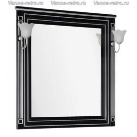Зеркало Акванет Паола 90 (черный с серебром)
