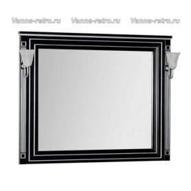 Зеркало Акванет Паола 120 (черный с серебром)