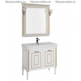 Мебель для ванной Акванет Паола 90 (белый с золотом) ➦ Vanna-retro.ru