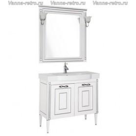 Мебель для ванной Акванет Паола 90 (белый с серебром) ➦ Vanna-retro.ru
