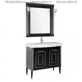 Мебель для ванной Акванет Паола 90 (черный с серебром)