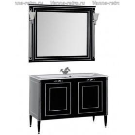 Мебель для ванной Акванет Паола 120 (черный с серебром) ➦ Vanna-retro.ru