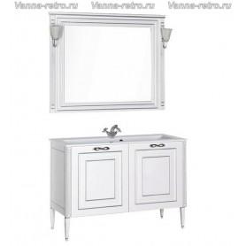 Мебель для ванной Акванет Паола 120 (белый с серебром) ➦ Vanna-retro.ru