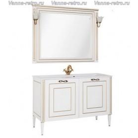 Мебель для ванной Акванет Паола 120 (белый с золотом) ➦ Vanna-retro.ru