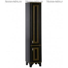 Пенал Акванет Валенса 40 (черный, декор краколет золото) ➦ Vanna-retro.ru