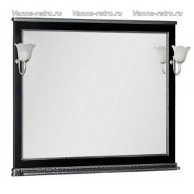 Зеркало Акванет Валенса 110 (черный, декор краколет серебро)