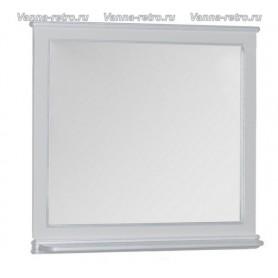 Зеркало Акванет Валенса 100 (белый, декор краколет серебро) ➦ Vanna-retro.ru