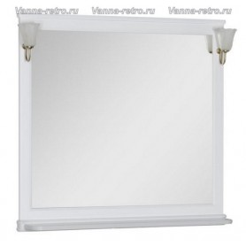 Зеркало Акванет Валенса 100 (белый матовый) ➦ Vanna-retro.ru