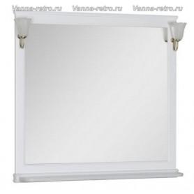 Зеркало Акванет Валенса 90 (белый матовый) ➦ Vanna-retro.ru
