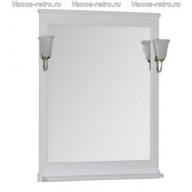 Зеркало Акванет Валенса 70 (белый матовый) - Vanna-retro.ru