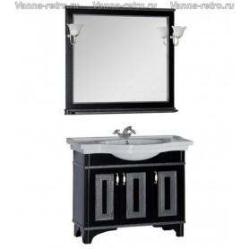 Мебель для ванной Акванет Валенса 100 (черный, декор краколет
