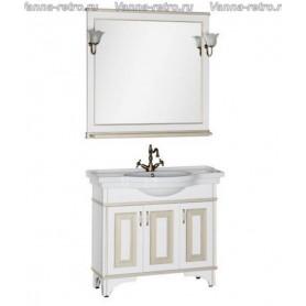 Мебель для ванной Акванет Валенса 100 (белый, декор краколет золото)