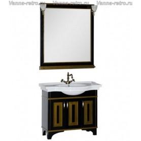 Мебель для ванной Акванет Валенса 90 (черный, декор краколет